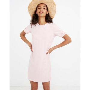 Madewell Pink Puff-Sleeve Tee Dress - XS